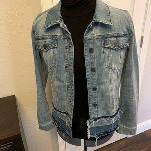 Kut from the Kloth Frayed hem denim jacket